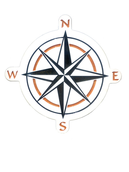 Compass Rose Epoxy Resin Wall Plaque