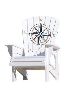 Compass Rose Adirondack Chair
