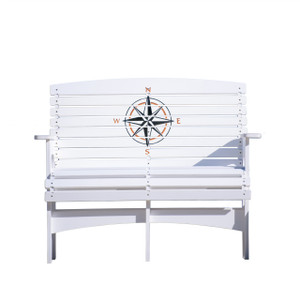 Compass Rose outdoor patio bench