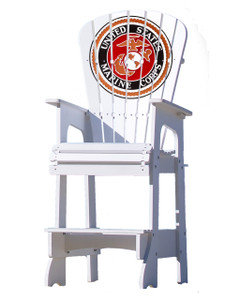 United States Marine Corps Lifeguard Style Patio Chair