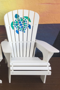 Multicolor Turtle Adirondack Chair