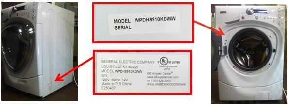 Front Load Washer Model Number