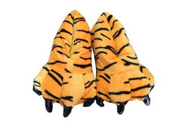 Animal Soft Plus Tiger Slipper  Complete your onesies collection by purchasing the animal soft plus slipper to keep your feet warm in the winter season.