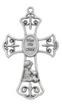 Bless this Child with Puppy Cross Baptism Cross for room