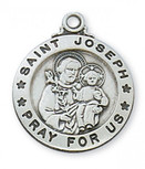 "SS ST. JOSEPH 20"" CHAIN & BOX"