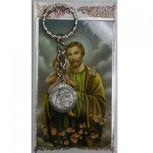 ST JOSEPH KEYRING/PRAYER CARD