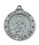 """PEWTER ST JUDE MEDAL WITH 24"""""""