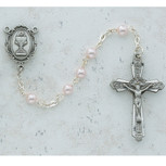 4MM PINK PEARL COMM ROSARY