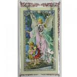 BLUE ROSARY & PRAYER CARD