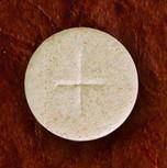 """1 3/8"""" Diameter Altar Bread Whole Wheat ( Cross Design ) Box1000"""