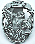St. Michael Protect Us Visor Clip