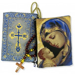 "Madonna & Child Rosary Icon Pouch 5 3/8""x4"" (TIP4)"