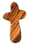 Olive Wood Large Holding Prayer Cross (Large)