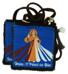 Authentic Catholic Scapular - 100% Wool (Divine Mercy)