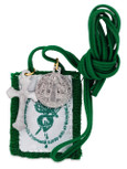 Authentic Catholic Scapular - 100% Wool (Immaculate Heart of Mary Green Scapular)