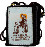 Authentic Catholic Scapular - 100% Wool (Regal Brown Scapular)