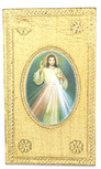 Divine Mercy Wall Plaque with Gold Background and Wall Hook - Made in Italy