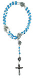 Immaculate Conception Catholic Rosary with Glass Beads (Aqua)