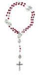 Immaculate Conception Catholic Rosary with Glass Beads (Red)