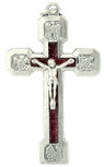 Catholic Four Evangelist Stations of the Cross Crucifix Pendant