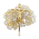 Catholic Crystal Wedding Rosary