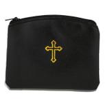 Beautiful Catholic Rosary Case (Black, 1 Pack)