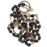 Monk's Girdle Catholic Rosary with Wood Beads