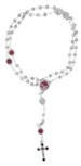 Holy Spirit Rosary with Red Enamel and Rosette Beads