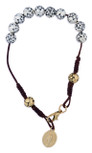 Immaculate Conception One Decade Rosary Bracelet with Rosette Beads and Clasp