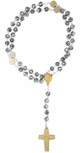 Pope Francis Four Basilicas Rosary with Rosette Beads and Gold-Tone Accents - Made in Italy by Vatican Imports