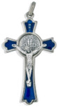 "2"" Saint Benedict Cross Pendant with Colored Enamel"