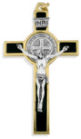"3"" Saint Benedict Cross with Colored Enamel"