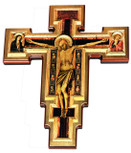 Catholic Wall Cross Featuring the Crucifixion by Giotto (1325 A.D.)