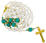 *FREE* Ornate Rosary with Gold Accents and Pearlized Beads
