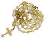 *FREE* Ornate Rosary with Artisanal Glass Beads and Gold-Tone Accents