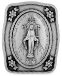 Miraculous Medal / Immaculate Conception Catholic Visor Clip