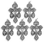 Deluxe Catholic Pardon Cross - Pack of 5
