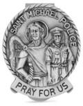 Solid Pewter Saint Michael the Archangel Visor Clip