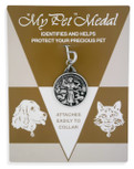 Saint Francis of Assisi Engravable Pet Identification Tag Medal