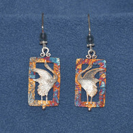 Calling Cranes Earrings - Rectangles