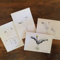 Crane Watercolor Notecard Set