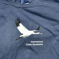 Retro Flying Whooping Crane T-shirt