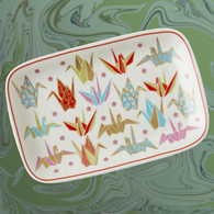 Pink Origami Cranes Plate