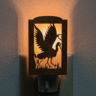 Ornate Wooden Crane Night Light