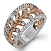 Simon G. Duchess Collection 18K White and Rose Gold 0.65ctw RH Ring