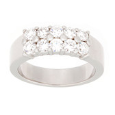 Towne Collection 14K Whte Gold Fashion Ring Round Diamond 0.99ctw