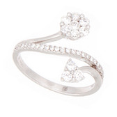 Towne Collection 18K White Gold Fashion Ring with Round Diamonds 0.61ctw