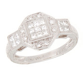 Towne Collection 14K White Gold Diamon Fashion Ring