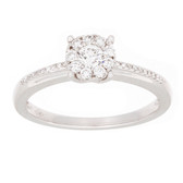 Towne Collection 18K White Gold Fashion Ring Round Diamonds 0.34ctw