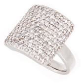 Towne Collection 14K White Gold Geometric Fashion Ring Round Diamonds 1.79ctw